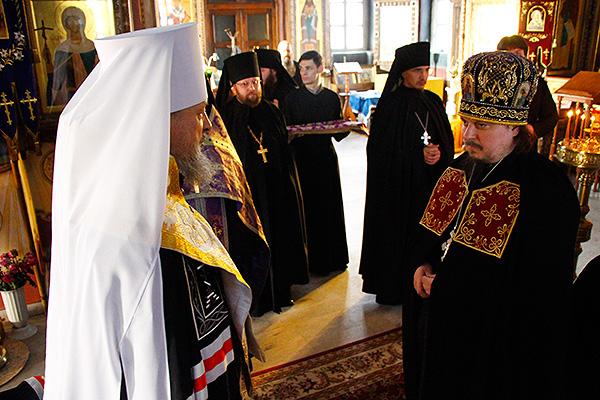 Избранный епископом Мценским игумен Алексий (Заночкин) возведен в сан архимандри