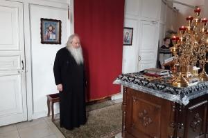 В четверг первой седмицы Великого поста митрополит Тихон молился за уставным богослужением в храме св. Матроны Московской