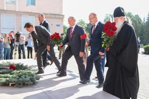 Глава Орловской митрополии принял участие в торжествах  в честь 77-й годовщины освобождения Орла