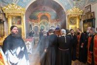ВСвято-Троицком храме города Орла состоялся чин отпевания протоиерея Марка Боронтова, почившего 18мая на45-м году жизни. 20 мая 2019 г.