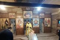 В храме преподобного Лазаря Сербского на территории центра «Знаменская богатырская застава» в декабре 2020 года начались регулярные богослужения