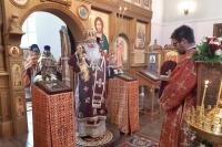 В день памяти прп. Кукши Печерского митрополит Орловский и Болховский Тихон совершил литургию в монастыре святого Кукши Мценского района. 9 сентября 2020 г.