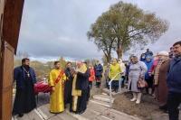 Митрополит Орловский и Болховский Тихон освятил источник и купель в честь преподобного Сергия Радонежского в поселке Шаблыкино. 18 октября 2020 г.
