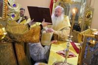 В день памяти прав. Иоанна Кронштадтского митрополит Орловский и Болховский Тихон возглавил Литургию в Смоленском храме города Орла и совершил хиротонию диакона Романа Жудина во пресвитера. 2 января 2021 г.