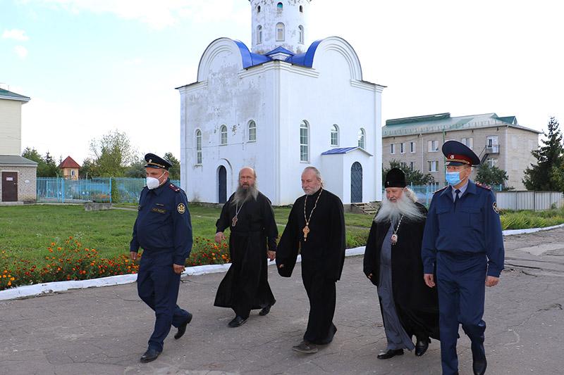 Архипастырь посетил исправительную колонию №6 в Шахово, где скоро состоится освящение храма